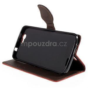 Červené peňaženkové puzdro na Huawei Ascend G7 - 3