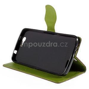 Hnedé peňaženkové puzdro na Huawei Ascend G7 - 3