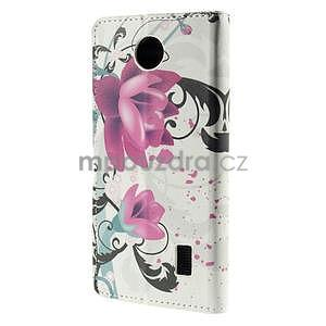 Peňaženkové puzdro Huawei Y635 - kvetinový vzor - 3