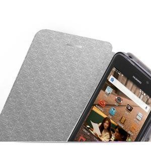 Modré PU kožené puzdro na Huawei Y635 - 3