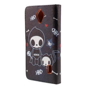 Zapínacie peňaženkové puzdro na Huawei Y635 - fishbone - 3