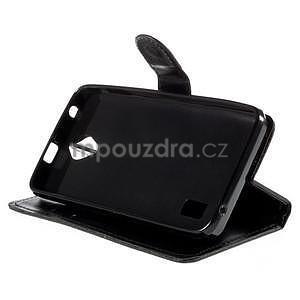 PU kožené čierne puzdro so zapínaním Huawei Y635 - 3