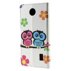 Peňaženkové puzdro na Huawei Y635 - sovy na vetve - 3