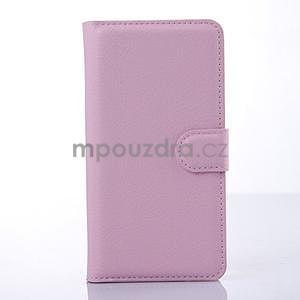 Stylové peňaženkové puzdro na Lenovo S850 - růžové - 3