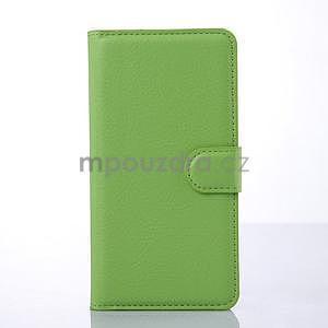 Stylové peňaženkové puzdro na Lenovo S850 - zelené - 3