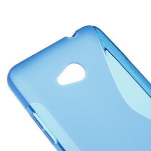 Gélový s-line obal na Microsoft Lumia 640 - modrý - 3