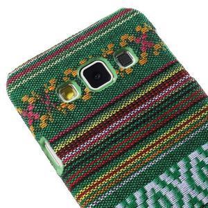 Obal potažený látkou na Samsung Galaxy A3 - zelený - 3
