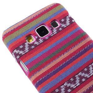 Obal potažený látkou pre Samsung Galaxy A3    - rose - 3