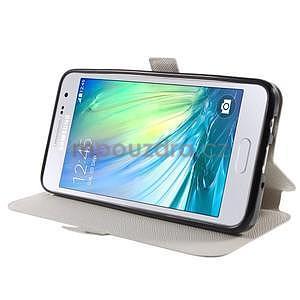 Klopové kožené puzdro na Samsung Galaxy A3 - biele - 3