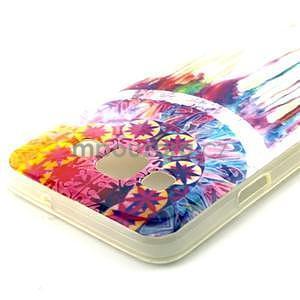 Gélový obal pre Samsung Galaxy A3    - stékající farby - 3