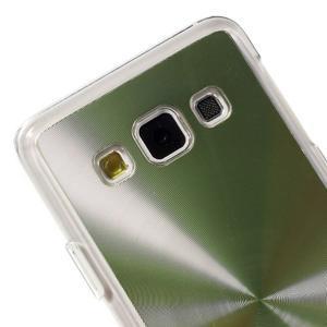 Metalický plastový obal na Samsung Galaxy A3 - zelený - 3