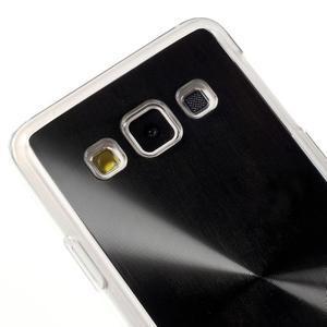 Metalický plastový obal na Samsung Galaxy A3 - čierny - 3
