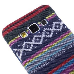 Obal potažený látkou pre Samsung Galaxy A3    - mix barev II - 3