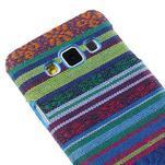 Obal potažený látkou pre Samsung Galaxy A3    - mix barev I - 3/5