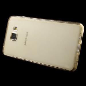 Gélový obal 2v1 pro zadní kryt a displej pre Samsung Galaxy A5 (2016) - zlatý - 3