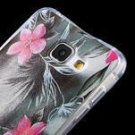 Tvarovaný gelový obal na Samsung Galaxy A5 (2016) - květiny - 3/5