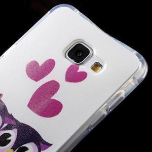Tvarovaný gelový obal na Samsung Galaxy A5 (2016) - soví rodinka - 3