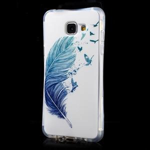 Tvarovaný gelový obal na Samsung Galaxy A5 (2016) - ptačí peříčko - 3