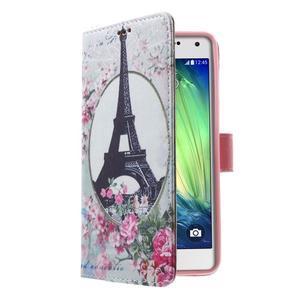 Koženkové pouzdro na Samsung Galaxy A5 (2016) - Eiffelova věž - 3