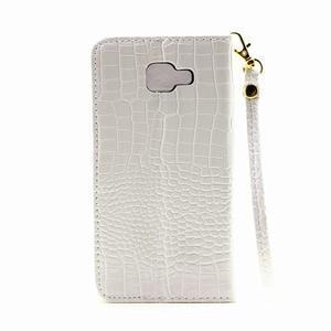 Croco peňaženkové puzdro Samsung Galaxy A5 (2016) - biele - 3