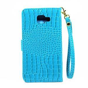 Croco peňaženkové puzdro Samsung Galaxy A5 (2016) - modré - 3