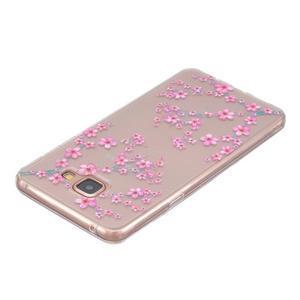 Transparentní gelový obal na Samsung Galaxy A5 (2016) - květy švestky - 3