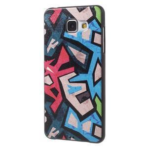 Gélový obal s koženkovým vzorem pre Samsung Galaxy A5 (2016) - grafity - 3