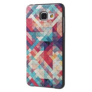 Gelový obal s koženkovým vzorem na Samsung Galaxy A5 (2016) - hexagon - 3