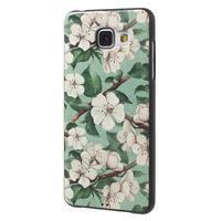 Gélový obal s koženkovým vzorem pre Samsung Galaxy A5 (2016) - kvety - 3/6