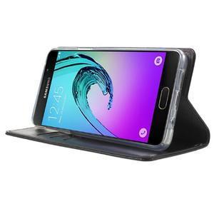 Moon PU kožené pouzdro na Samsung Galaxy A5 (2016) - černé - 3