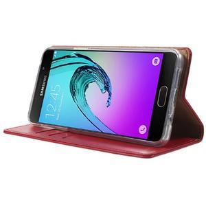 Moon PU kožené pouzdro na Samsung Galaxy A5 (2016) - červené - 3