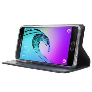 Moon PU kožené pouzdro na Samsung Galaxy A5 (2016) - tmavěmodré - 3