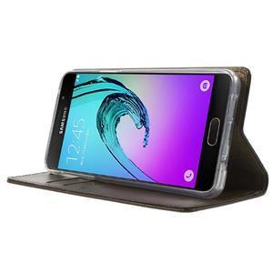 Moon PU kožené puzdro pre Samsung Galaxy A5 (2016) - coffee - 3