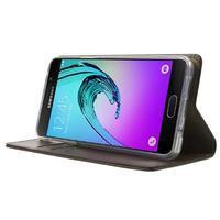 Moon PU kožené puzdro pre Samsung Galaxy A5 (2016) - coffee - 3/7
