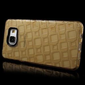 Square gelový obal na mobil Samsung Galaxy A5 (2016) - zlatý - 3