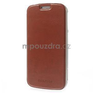 hnedé peňaženkové puzdro na Samsung Galaxy K Zoom C115 - 3
