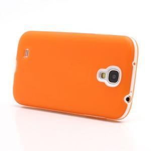 Gelové pouzdro 2v1 na Samsung Galaxy S4 - oranžové - 3