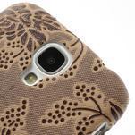 Kvetinové puzdro pre Samsung Galaxy S4 - hnedé - 3/3