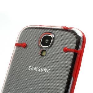Obal na mobil se svítícími hranami na Samsung Galaxy S4 - červené - 3