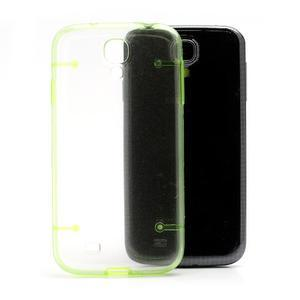 Obal na mobil se svítícími hranami na Samsung Galaxy S4 - zelené - 3
