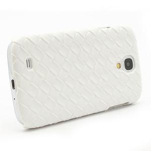 PU kožené puzdro pre Samsung Galaxy S4 - biele - 3
