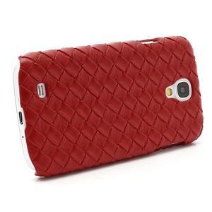 PU kožené puzdro pre Samsung Galaxy S4 - červené - 3