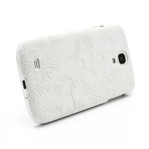 Kvetinové puzdro pre Samsung Galaxy S4 - biele - 3