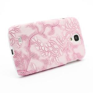 Květinové pouzdro na Samsung Galaxy S4 - růžové - 3