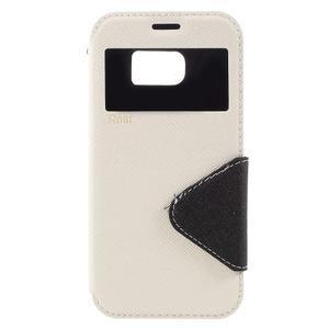 Diary puzdro s okienkom pre Samsung Galaxy S7 - biele - 3
