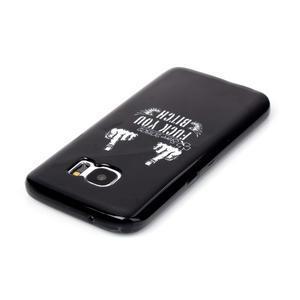 Sally gelový obal na Samsung Galaxy S7 - prostředníčky - 3