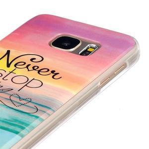 Gelový kryt na mobil Samsung Galaxy S7 - nepřestávej snít - 3