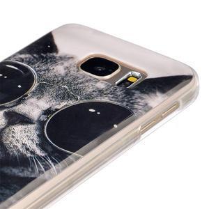 Gelový kryt na mobil Samsung Galaxy S7 - kočka mafián - 3
