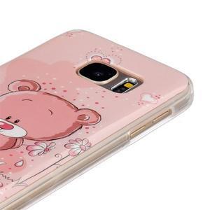 Gelový kryt na mobil Samsung Galaxy S7 - medvídek - 3