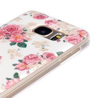 Gelový kryt pre mobil Samsung Galaxy S7 - kvetiny - 3/4
